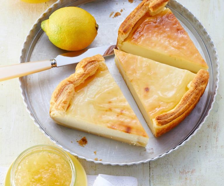 Zitronen-Frischkäse-Tarte